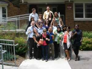 Interns after an exciting visit to Guelph Campus Co-op.